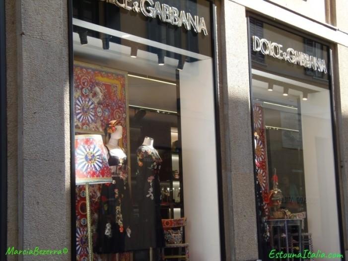 Loja da grife italiana Dolce e Gabbana